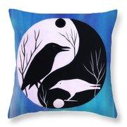 The Tao Of Crow Throw Pillow