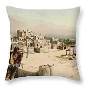 The Taos Pueblo Throw Pillow