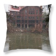 The Taprock In Winter Throw Pillow