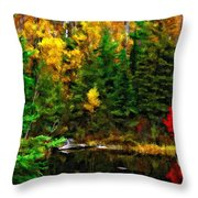 The Tarn Paint Version Throw Pillow