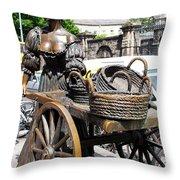 The Tart With The Cart Throw Pillow
