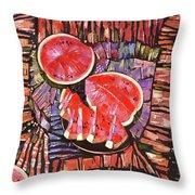The Taste Of Summer. Throw Pillow by Anastasija Kraineva