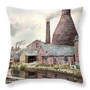 The Teapot Factory Throw Pillow