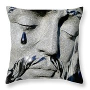 The Tear Of Jesus Throw Pillow
