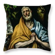 The Tears Of St Peter Throw Pillow