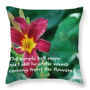 The Temple Bell Throw Pillow