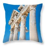 The Temple Of Apollo Throw Pillow by Luis Alvarenga
