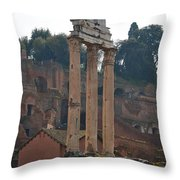 The Temple Of Castor And Pollux Throw Pillow