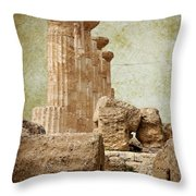 The Temple Of Heracles Throw Pillow
