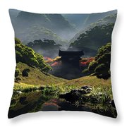 The Temple Of Perpetual Autumn Throw Pillow