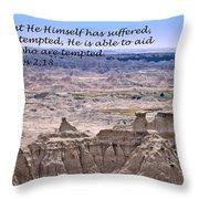 The Temptation Of Jesus Hebrews 2 18 Throw Pillow