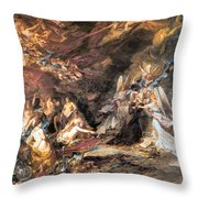 The Temptation Of St. Anthony Throw Pillow