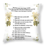 The Ten Commandments Throw Pillow by Anne Norskog