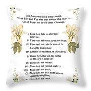 The Ten Commandments Throw Pillow