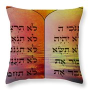 The Ten Commandments - Featured In Comfortable Art Group Throw Pillow