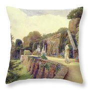 The Terrace At Berkeley Castle Throw Pillow