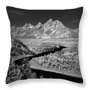 309217-the Teton Range From Snake River Overlook Throw Pillow