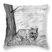 The Teutonic Fox Throw Pillow