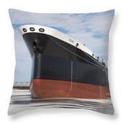 The Texas Cargo Ship Throw Pillow