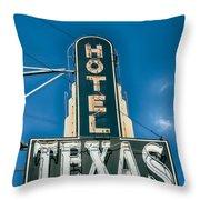 The Texas Hotel Throw Pillow