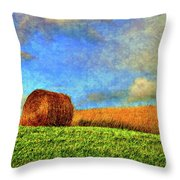 The Textures Of Autumn Throw Pillow