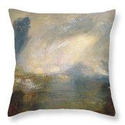 The Thames Above Waterloo Bridge Throw Pillow