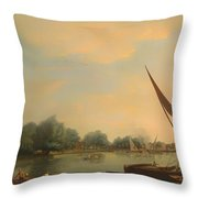 The Thames At Chelsea Throw Pillow