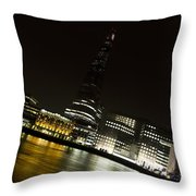 The Thames Downhill Throw Pillow