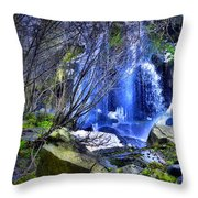 The Thawing Falls Throw Pillow