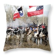 The Thin Gray Line Throw Pillow