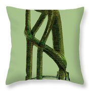 The Thinker   Number 10 Throw Pillow