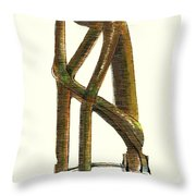The Thinker  Number 11 Throw Pillow