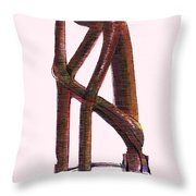 The Thinker   Number 17 Throw Pillow