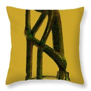 The Thinker   Number 4 Throw Pillow