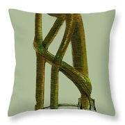 The Thinker  Number 6 Throw Pillow