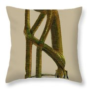 The Thinker   Number 7 Throw Pillow