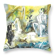 The Thinkers Throw Pillow