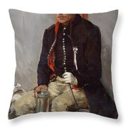 The Thirsty Feast Day Visitor  Throw Pillow