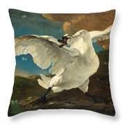 The Threatened Swan Throw Pillow