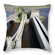 The Three Bridges. Throw Pillow