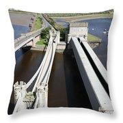 The Three Bridges. Throw Pillow