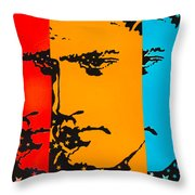 The Three Faces Of Elvis Throw Pillow