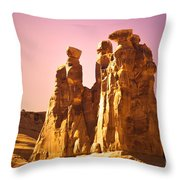 The Three Gossips In The Light Throw Pillow