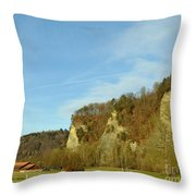 The Three Hills  Throw Pillow