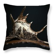 The Three Howling Wolves Throw Pillow