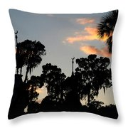 The Three Minarets Throw Pillow
