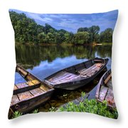 The Three Musketeers Throw Pillow by Debra and Dave Vanderlaan