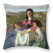 The Three Sisters Of Dean Liddell Throw Pillow