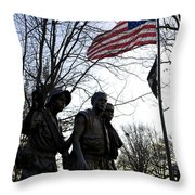 The Three Soldiers - Vietnam War Memorial Throw Pillow