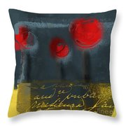 The Three Trees Throw Pillow by Variance Collections